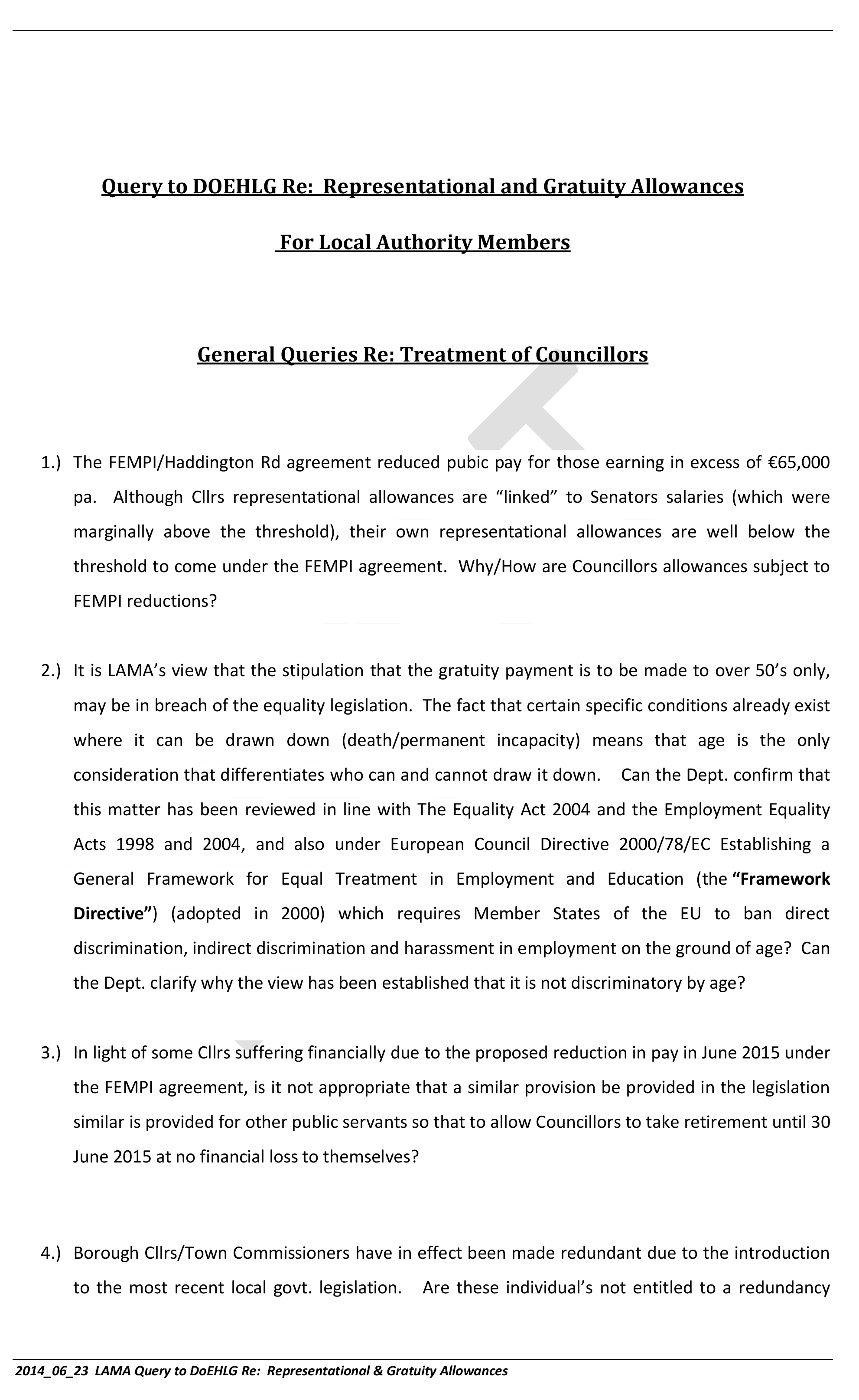 2014_06_24  Query to DOEHLG Re  Representational and Gratuity Allowances-1